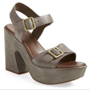Kork Ease Kenora platform sandals grey shoes
